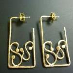 Rectangle Hoop Earrings In..